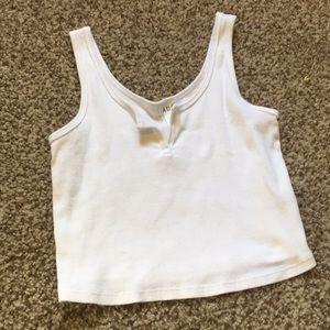 white cropped tank top